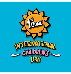 1 june international childrens day background vector image