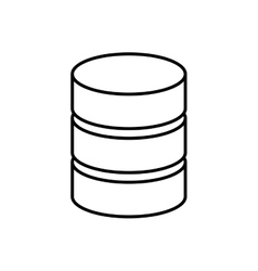 Disk data storage isolated icon vector