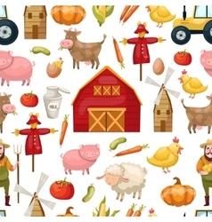 Farming Seamless Pattern vector image
