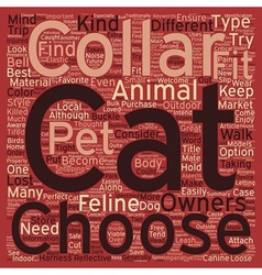 Different kinds of cat collars text background vector