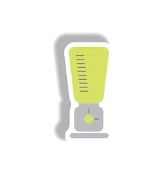 In paper sticker style blender vector