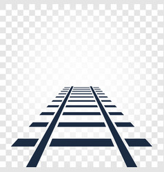Isolated rails railway top view ladder elements vector