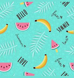 Summer fun seamless pattern of tropical fruit vector
