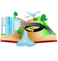 Book of travels vector