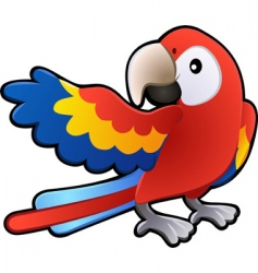 Macaw parrot illustration vector