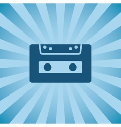 Retro poster audio cassette vector