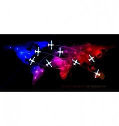 air travel flight vector image