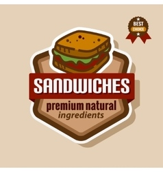 Sandwiches label vector