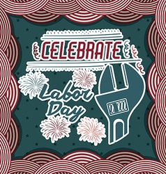 Retro labor day design vector