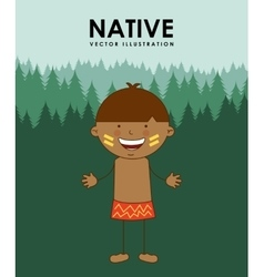 Native kid vector