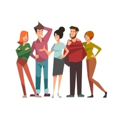 Group of talking friends vector