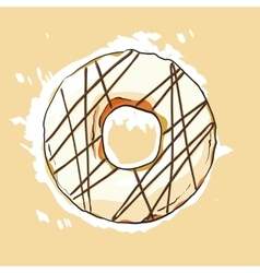 Sweet donut vector