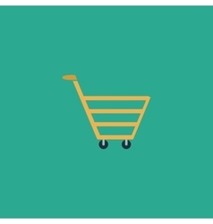 Trolley market flat icon vector