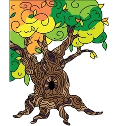 Old oak tree for tales vector