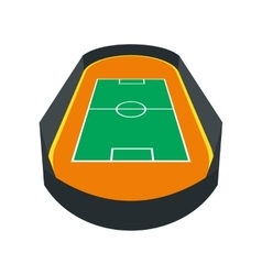 Open soccer field icon vector