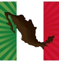 Mexico culture icons in flat design style vector