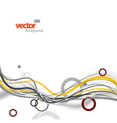 Abstract background with circles and lines vector image