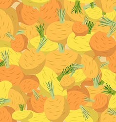 Background of yellow turnips seamless pattern of vector image vector image