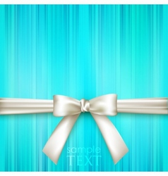 Blue striped blue background with white bow vector
