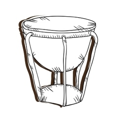Bongo drum musical instrument vector