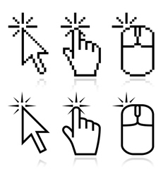 Click here mouse cursors vector