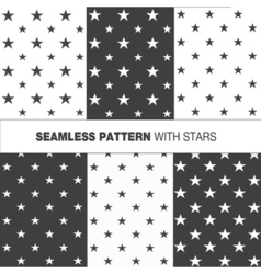 Collection of seamless pattern with stars vector image