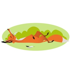 Cute sly full fox vector image