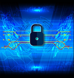 Cyber security padlock fiber vector