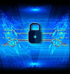 cyber security padlock fiber vector image vector image