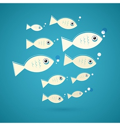 Fish on Blue Background vector image vector image