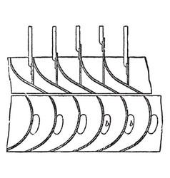 Guideblade chamber vintage vector