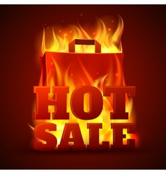 Hot sale fire banner vector image vector image