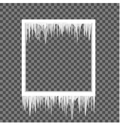 Icicles on a square frame vector