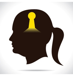 key whole in human head vector image