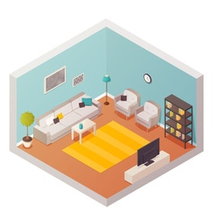 Living room design composition vector
