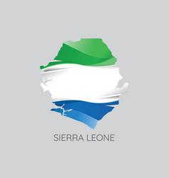 map of sierra leone vector image vector image