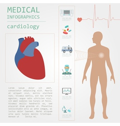 Medical and healthcare infographic cardiology vector