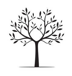natural tree with leaves vector image vector image