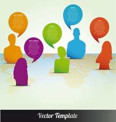 People communicating social media vector image vector image