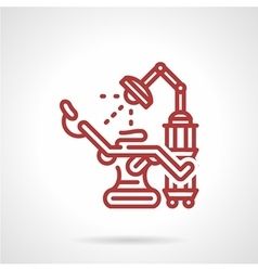 Red line icon for tattoo parlor vector image