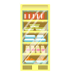 refrigerator from supermarket with plastic vector image