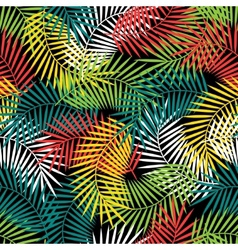 Seamless tropical pattern with stylized coconut vector