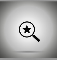 Search rating icon look for vector