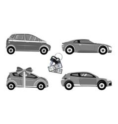 Set of car sale vector