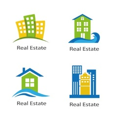 Set of logos of real estate vector