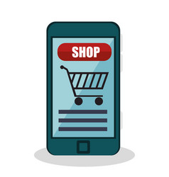 Shopping online e-commerce icon vector