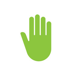 sign hand push icon vector image vector image