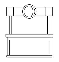 Street kiosk icon outline style vector