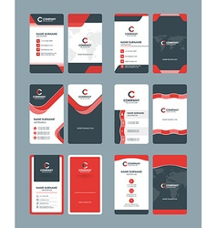 Vertical double-sided business card templates vector image
