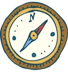 Vintage marine compass vector